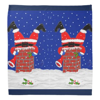 Bandana with Santas in the Chimney