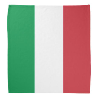Bandanas italianos de la bandera