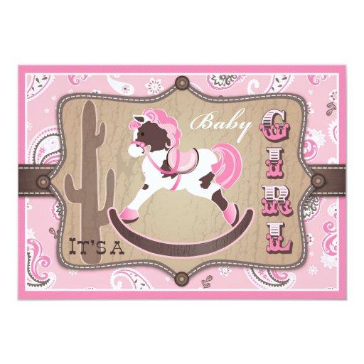 Custom Rocking horse baby shower Invites Templates Babyfavors4u