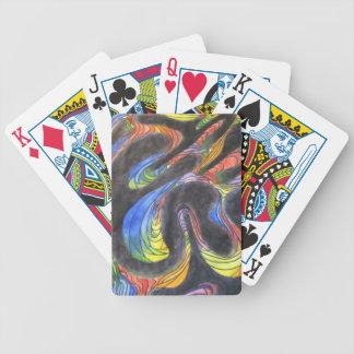 Bandas coloreadas barajas de cartas