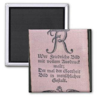Bandas de Vivat de Frederick II Imán Cuadrado