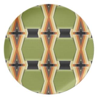 Bandas verdes trenzadas platos