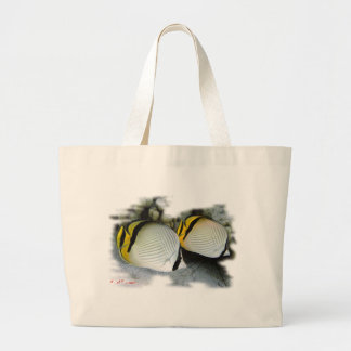 Banded Butterflyfish Life Partners Large Tote Bag