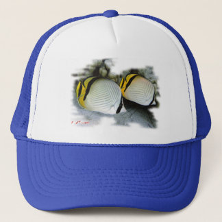Banded Butterflyfish Life Partners Trucker Hat