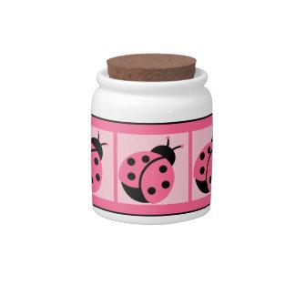 Banded Ladybug Candy/Treat Jar Candy Jars