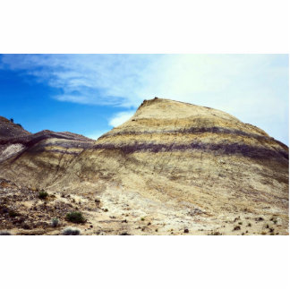 Banded mound, Big Bend National Park, Texas, U.S.A Standing Photo Sculpture