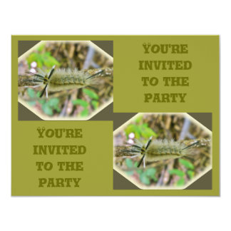 Banded Tussock Moth Caterpillar Birthday Party Card