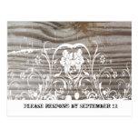 Banded Wood RSVP Post Card