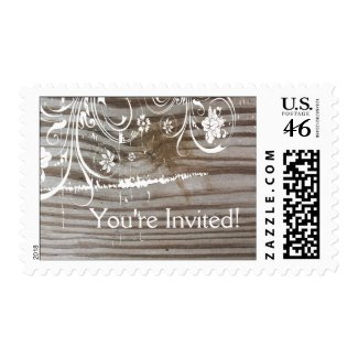 Banded Wood Shabby Lace Postage