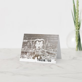 Banded Wood Thank You zazzle_card