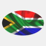 Bandeira África Pegatina Ovalada