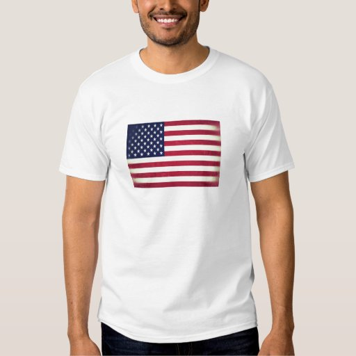 Bandeira americana (Grunged) Remera