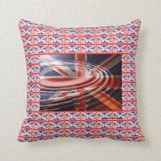 Bandeira Britânica refletida Travesseiros De Decoração