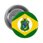 Bandeira Ceará Brasil Pin Redondo 5 Cm