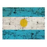 Bandeira da Argentina Cartão Postal