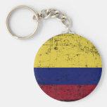 Bandeira da Colombia Llavero Redondo Tipo Pin