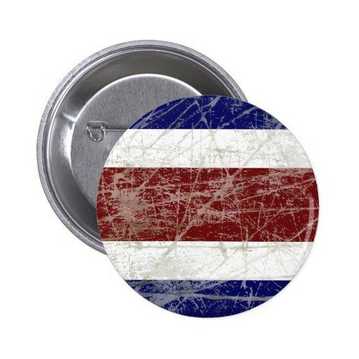 Bandeira da Costa Rica Pin Redondo 5 Cm