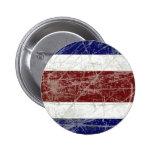 Bandeira da Costa Rica Pin Redondo De 2 Pulgadas
