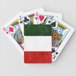 Bandeira da Itália Desgastada Baralhos De Poker