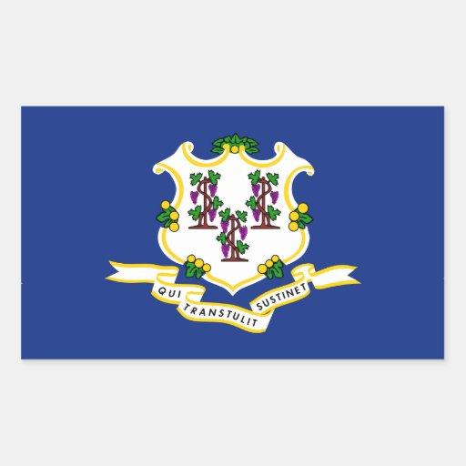 Bandeira de Connecticut Adesivo Retângular