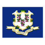 Bandeira de Connecticut Tarjetas Postales