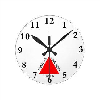 Bandeira de Minas Gerais, Brasil Wall Clocks