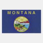 Bandeira de Montana Adesivo Retangular