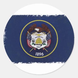 Bandeira de Utah Classic Round Sticker