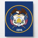 Bandeira de Utah Placa De Madera