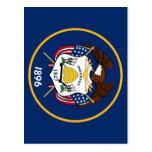 Bandeira de Utah Tarjeta Postal