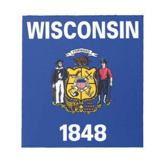Bandeira de Wisconsin Bloc De Notas