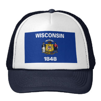 Bandeira de Wisconsin Gorros Bordados