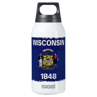Bandeira de Wisconsin Insulated Water Bottle