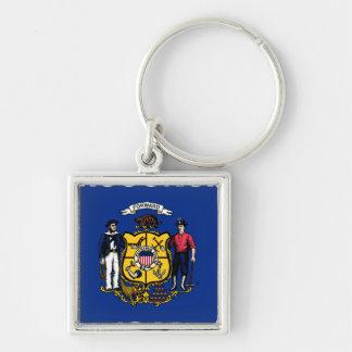 Bandeira de Wisconsin Key Chains