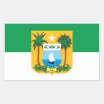 Bandeira do Rio Grande do Norte Brasil Adesivo Em Formato Retângular