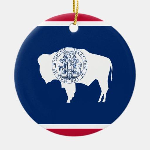 Bandeira do Wyoming Enfeite De Natal