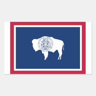 Bandeira do Wyoming Adesivo Em Formato Retângular