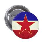 Bandeira Iugoslávia Pin Redondo De 2 Pulgadas