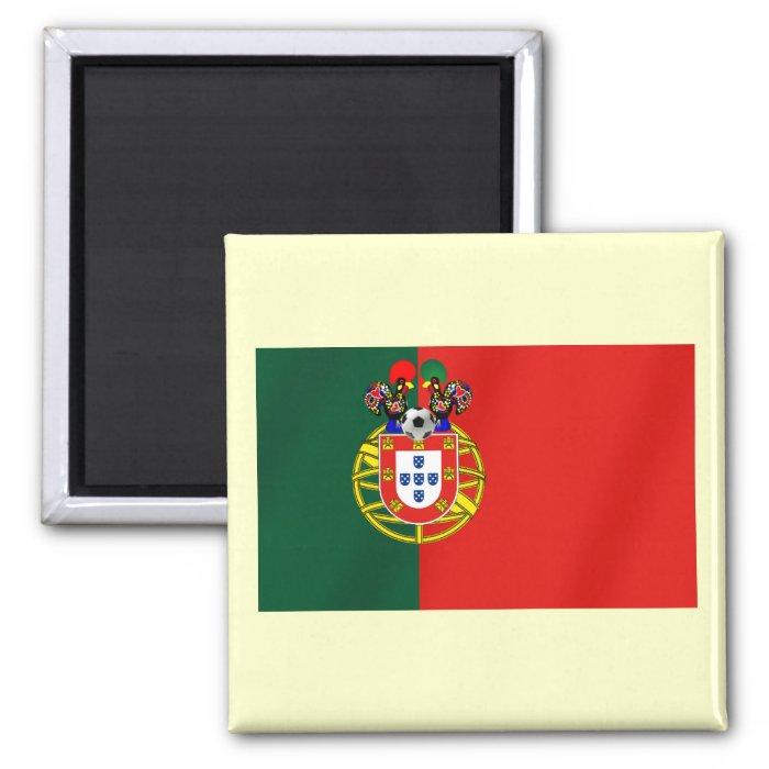 Bandeira Portuguesa Classica por Fás de Portugal 2 Inch Square Magnet