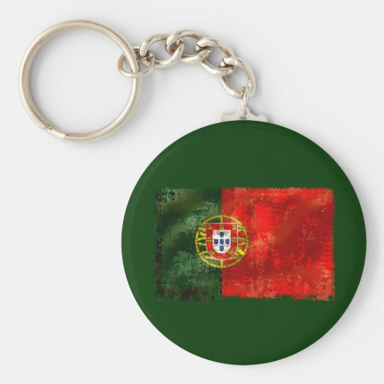 Bandeira Portuguesa - Estilo retro Keychain