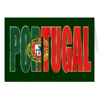 "Bandeira Portuguesa - Marca ""Portugal"" por Fãs Greeting Card"
