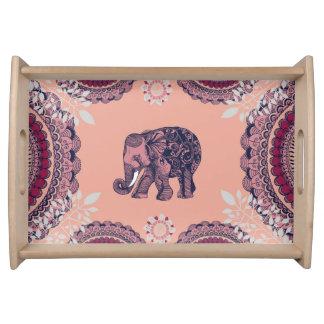 Bandeja bohemia del elefante