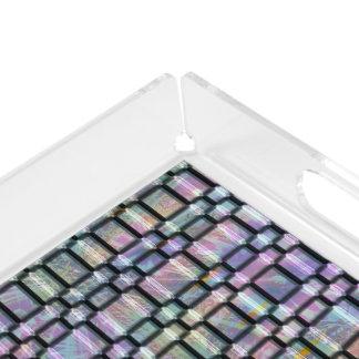 Bandeja colorida abstracta   de la vanidad de las bandeja rectangular