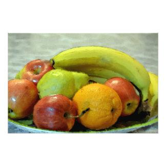 Bandeja colorida de las frutas del estilo del arte fotos