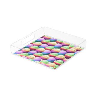 Bandeja colorida del fiesta de los huevos de bandeja cuadrada