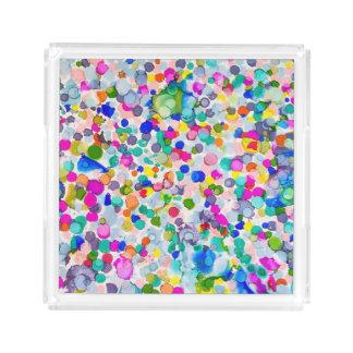Bandeja de acrílico ingeniosa abstracta bandeja cuadrada