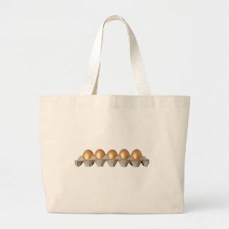 Bandeja de huevos de oro bolsa tela grande
