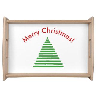 Bandeja de la porción - árbol de navidad con el