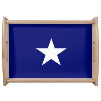 """""""Bandeja de la porción de la bandera azul de Bandejas"""