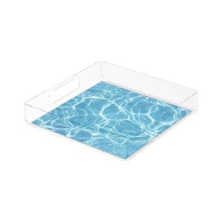 Bandeja de la porción del agua de la piscina